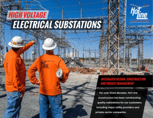 Substation Brochure - Hot Line Construction