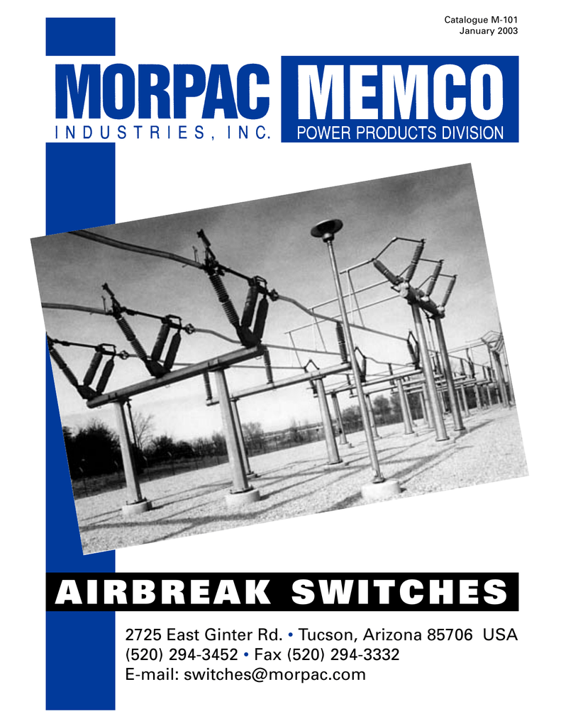 AIRBREAK SWITCHES - Morpac Industries, Inc