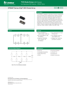 SP0544T Series 0.5pF 12KV Diode Array
