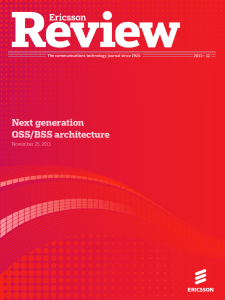 Next generation OSS/BSS architecture