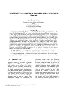 The Simulation and Optimization of Transposition in Stator Bars of