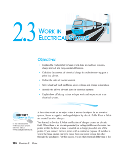 2.3 Work in Electrical Systems