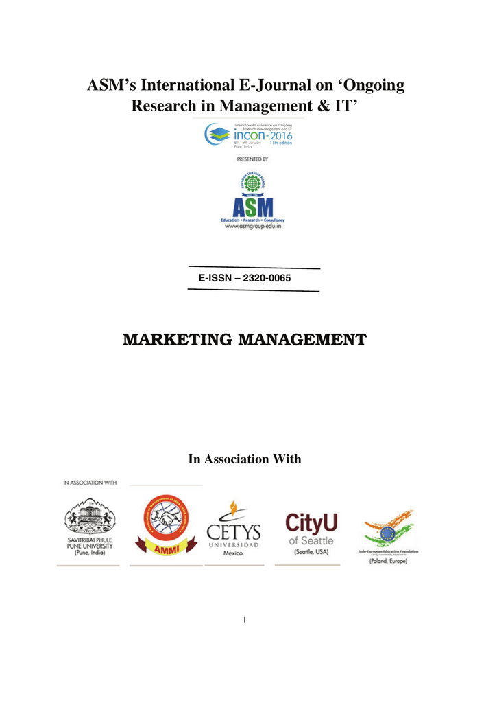Marketing management asm group of institutes fandeluxe Images