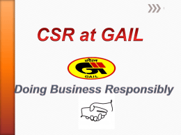 Skill Training Program funded under CSR of GAIL India Ltd.