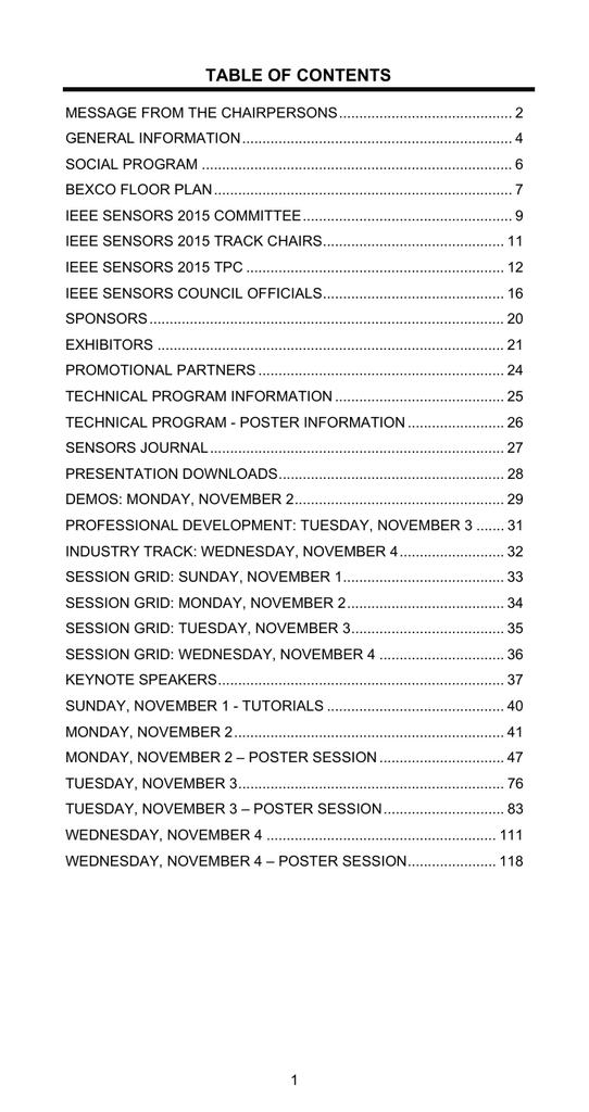 table of contents - IEEE Sensors 2015