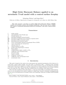 High Order Harmonic Balance applied to an aeroelastic T