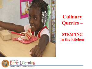Culinary Queries 2016 - Early Learning Coalition of Osceola County