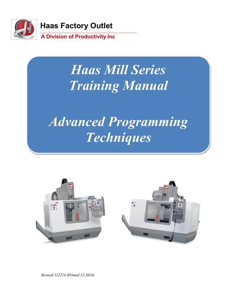 Haas Mill Advanced Programming Manual