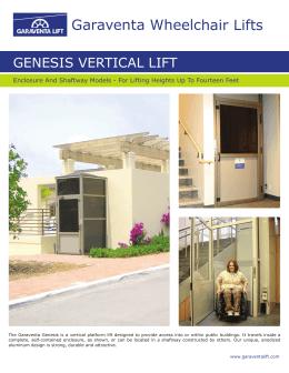Genesis vertical lift for Www garaventalift com