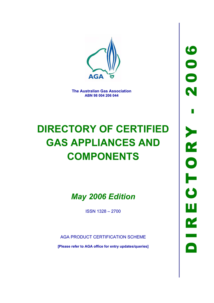 95dff6baf directory of certified gas appliances and