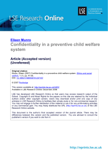 Confidentiality in a preventive child welfare system