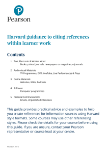 Pearson Guide to Harvard Referencing