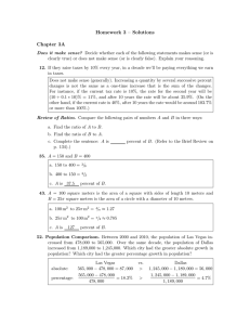 Homework 3 – Solutions Chapter 3A