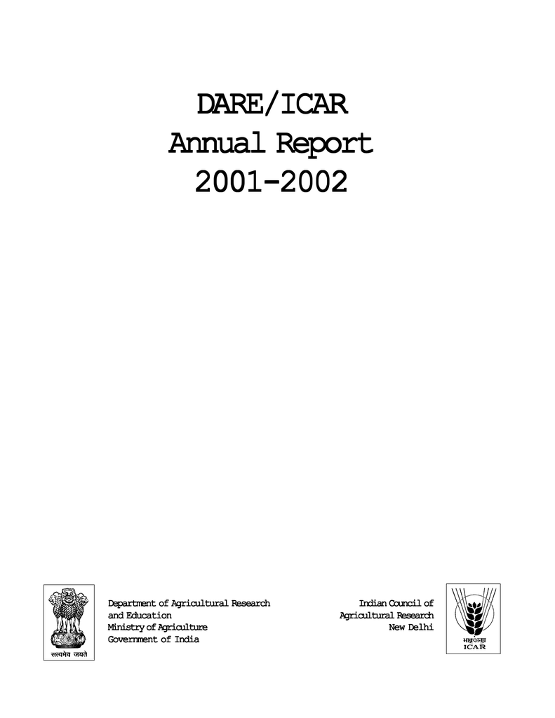 c2efeae56b DARE ICAR Annual Report 2001-2002