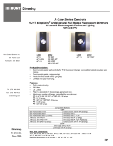 A-Line Series - Hunt Dimming