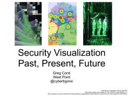 Security Visualization Past, Present, Future