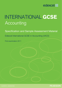 Specification and sample assessment material - Edexcel