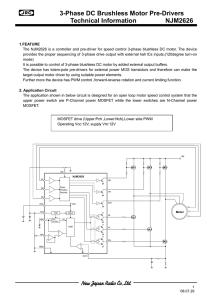 3-Phase DC Brushless Motor Pre-Drivers Technical Information