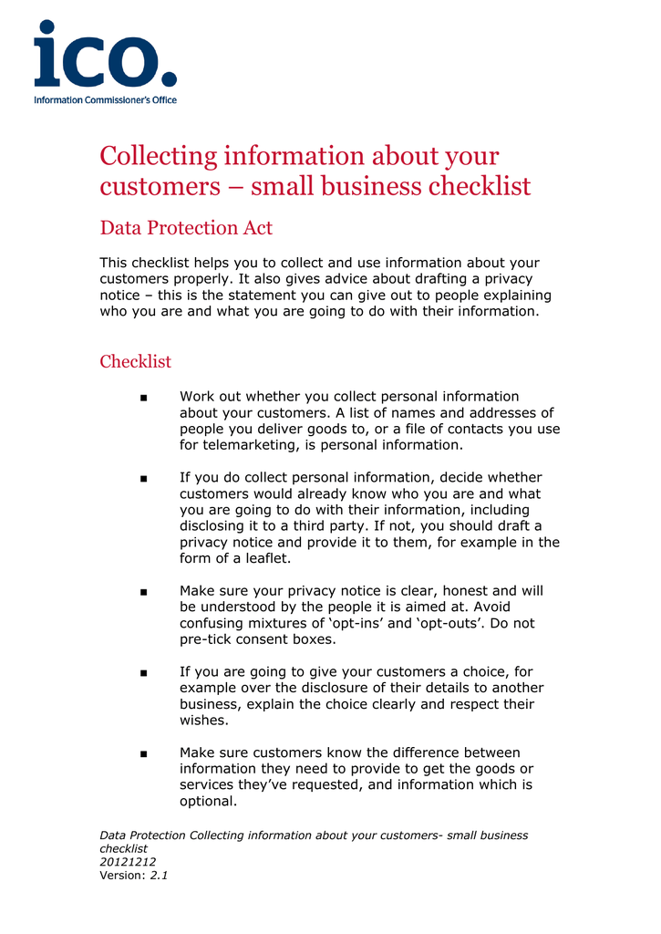 pre ico checklist