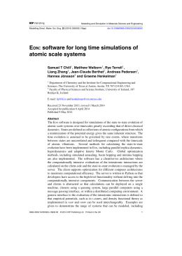 EON: Software for long time simulations of atomic scale systems