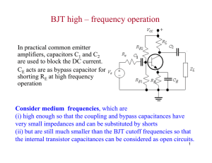 BJT high – frequency operation
