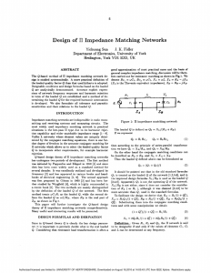 Design of /spl Pi/ impedance matching networks