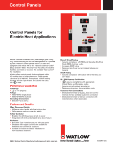 Watlow Controller Catalog - Southwest Heater and Control on