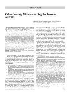 Cabin Cruising Altitudes for Regular Transport Aircraft