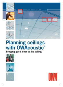 Planning ceilings with OWAcoustic®