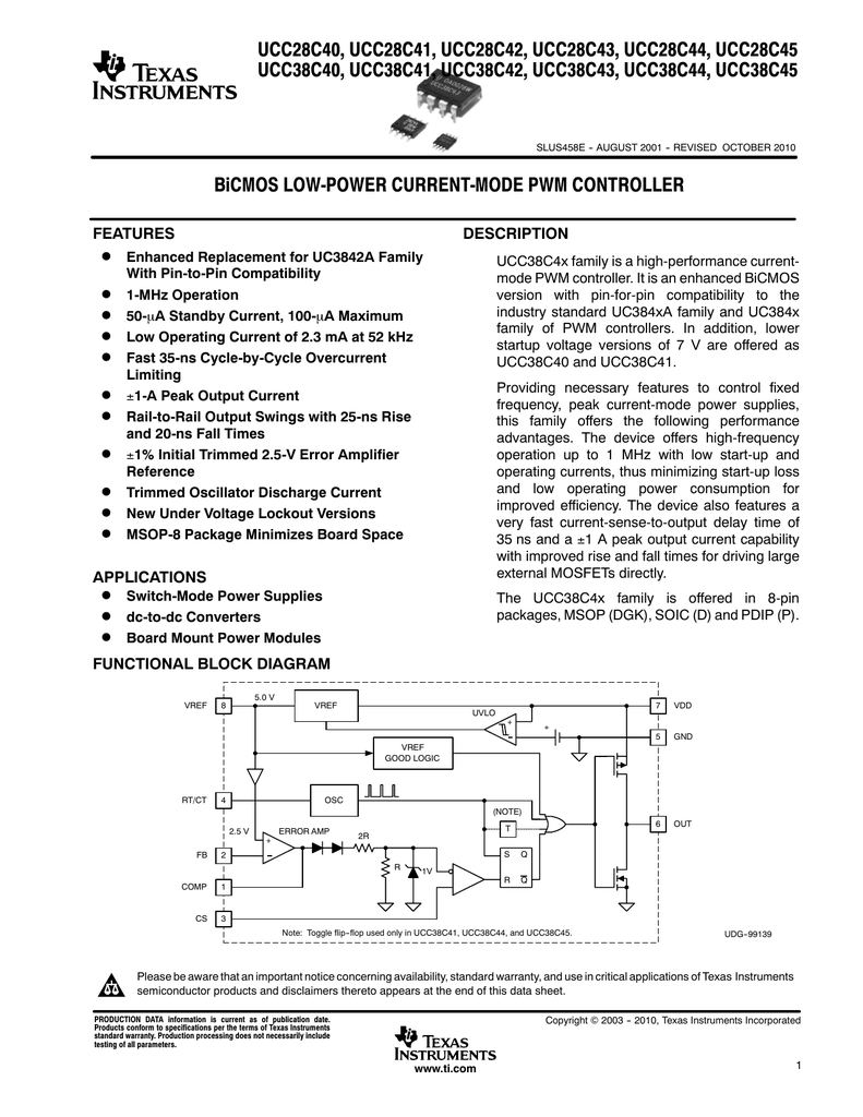 Texas Instruments Switched Mode Power Supply Block Diagram