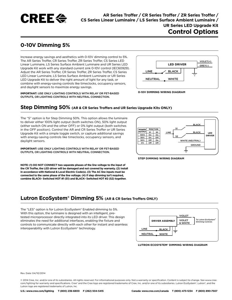 Control Options Polar 0 10v Dimming Wiring Diagram