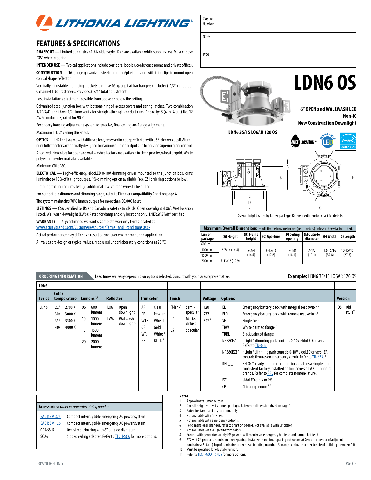 Lithonia ldn6 wiring diagram lighting diy wiring diagrams ldn6 os acuity brands rh studylib net outdoor lighting wiring diagram lithonia emergency light wiring diagram cheapraybanclubmaster Gallery