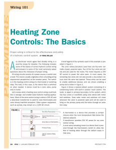 Heating Zone Controls: The Basics