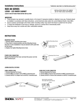 Kichler 174 Pro Series Wire Connector Installation Instructions