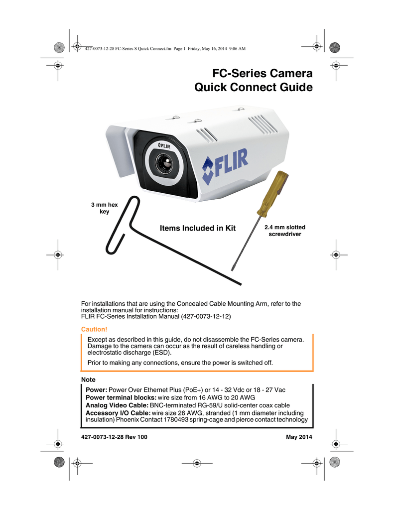 Fc Series Camera Quick Connect Guide I M506 Wiring Diagram