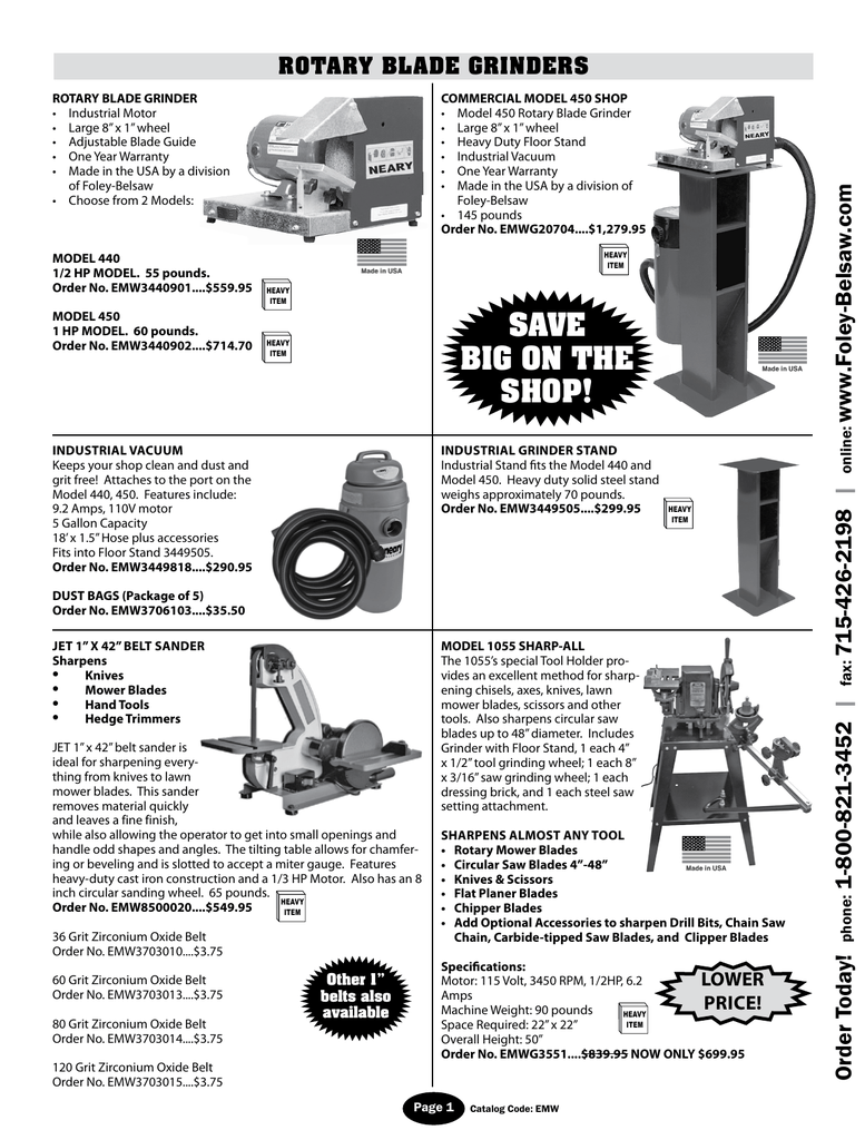 OPEP supply Catalog - Foley