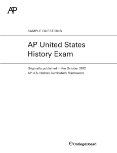AP US History Sample Questions