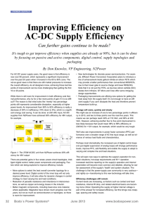Improving Efficiency on AC-DC Supply Efficiency