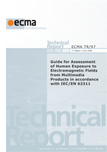 ECMA TR/97 Guide for Assessment of Human Exposure to