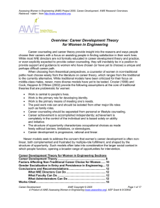 Career Development Theory for Women in Engineering