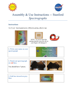 Spectrograph Assembly and Simple Lesson Plan