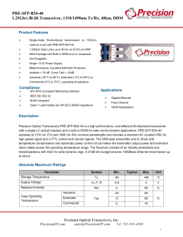 PRE-SFP-B34-40 Datasheet - Precision Optical Transceivers