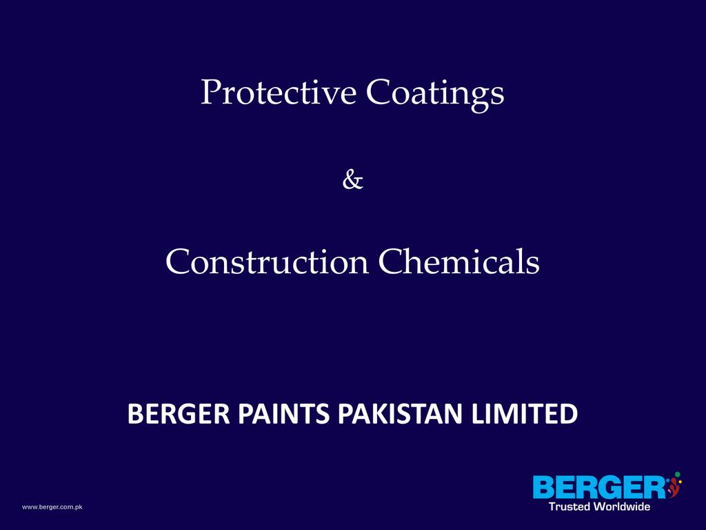 Construction Chemicals Pakistan Coating Show