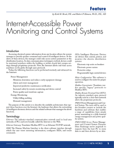 Internet-Accessible Power Monitoring and Control Systems