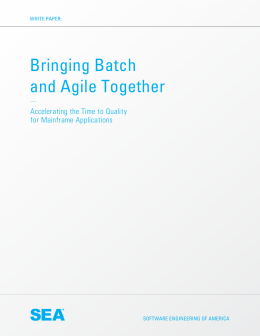 Bringing Batch and Agile Together