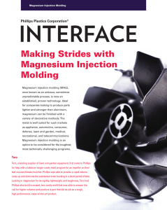 Making Strides with Magnesium Injection Molding - Phillips