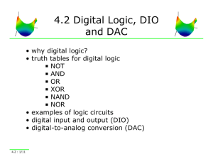 4.2 Digital Logic, DIO and DAC