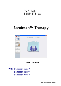 Sandman Therapy user manual