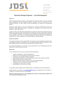 Electrical Design Engineer – Land Development