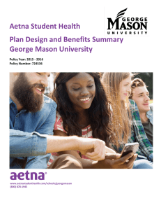 2015-2016 Plan Design and Benefits Summary